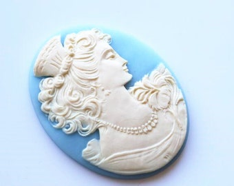 12 pcs of resin cameo 42x52mm -RC0337