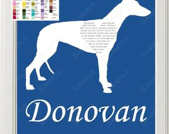 Memorial Gifts, Pet Loss, Pet Sympathy, Rainbow Bridge Pet Memorial, Rainbow Bridge Poem, Greyhound Memorial, Dog Memorials 8 X 10 Print