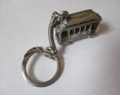 Vintage streetcar cable car keychain all metal