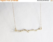 Mothers Day Sale Gold Branch Necklace - Branch Necklace - Charm Necklace - Thin Necklace - Gold Branch Necklace - Small Necklace - Simple Ne