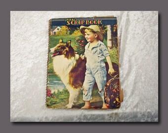 Antique Spiral Scrapbook Full of Old Valentines c. 1915 - 1920