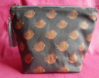 Firefly inspired toiletries bag  zipped pouch