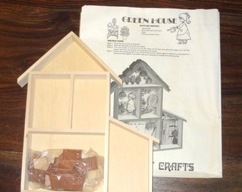 SPRING SALE 30% OFF Miniature dollhouse Greenhouse Kit
