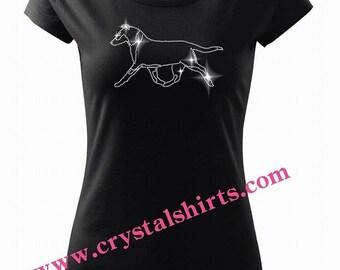 Smooth Collie rhinestone, bling T-shirt