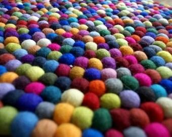 SALE! 1000 pieces x 2cm mix FELT BALLS  beads 2cm 20mm (7/8 inch)