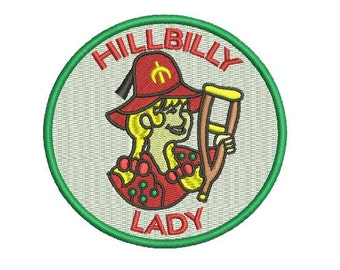 hilbilly shriner lady embroidery design
