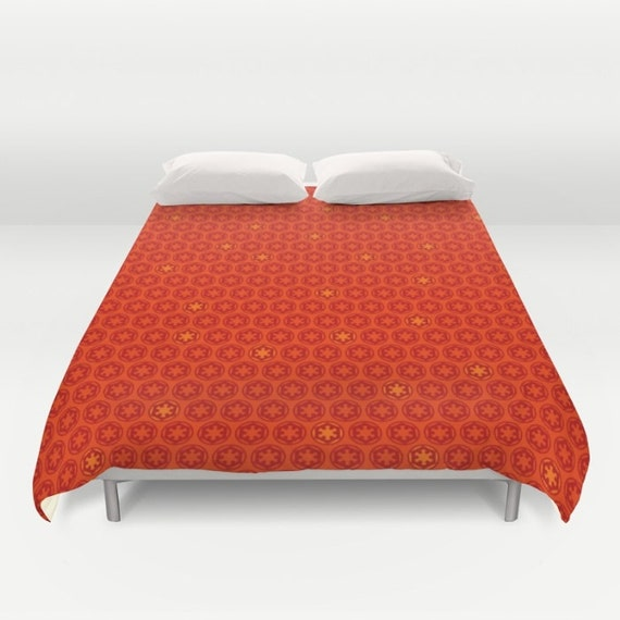Star Wars Duvet Imperial Cog In Red Orange Duvet Cover Dark