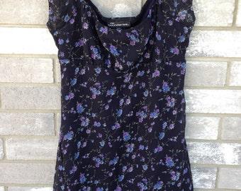 90s off the shoulder floral no boundaries mini dres