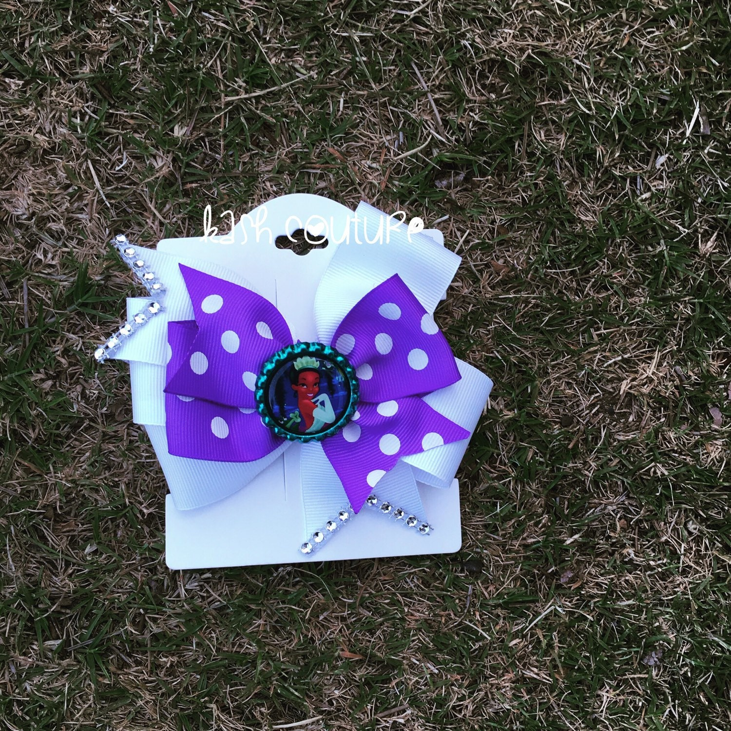 Princess Tiana Hair: Princess Tiana Hair Bow By KashCoutureKidtique On Etsy