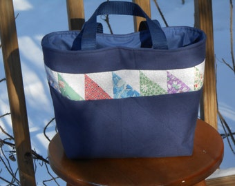Saw Tooth Patchwork Tote - Free Shipping