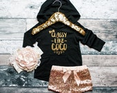 Baby Girl Hoodie Girl's Hoodie Baby Girl Clothes Classy Hoodie Baby Gift White And Gold Glitter Shirt #32