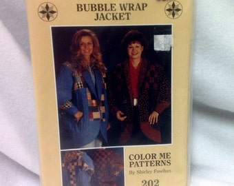 Pattern ~ Bubble Wrap Jacket Quilt Pattern - Color Me Patterns by Shirley Fowlkes #202 ~ All Sizes