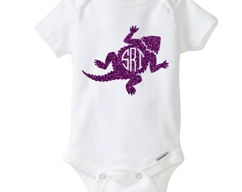 Frog Monogram Baby Outfit