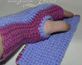 Crochet hand/wrist warmers