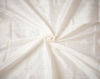 Off White Silk Dupioni, Cream Silk by the Half Yard