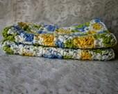 Cotton Dish Rag  Eco Friendly Dusting Rag  Wash Cloth  Baby Wash Cloth  Soft Cotton Crochet Cloth