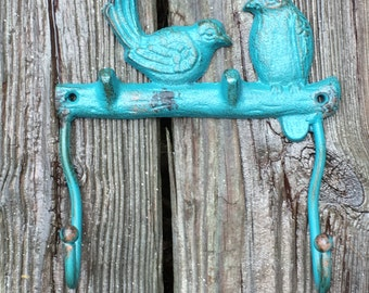 Cast Iron Wall Hook  with Birds
