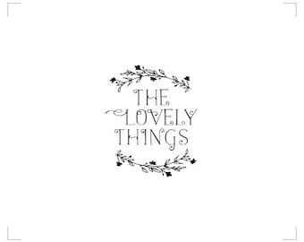 """Premade Logo - Branding, Elegant, Boutique, Beautiful """"The Lovely Things"""""""