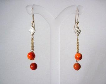orange jasper earrings