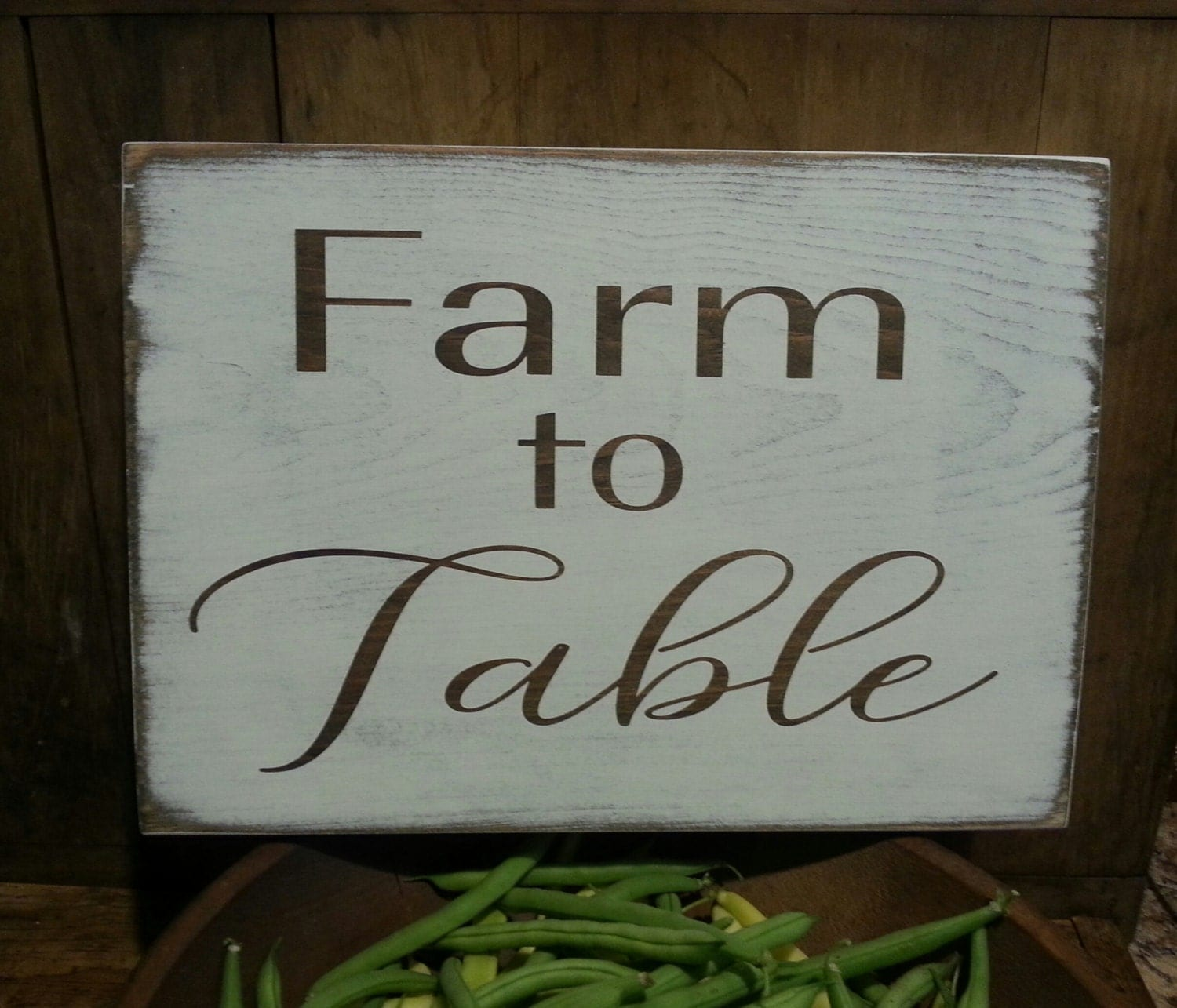 Farmhouse Kitchen Decor Farm To Table Wooden Sign Farmhouse