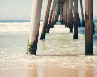 Hermosa Beach Pier Photography,  Los Angeles Photography, California Beach Photography, Pastel Beach Art, coastal, Bohemian Wall Decor,