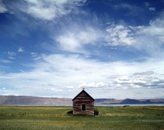 Landscape Photography - Lonely House Fine Art Photograph - Lonely House Bear Lake Print - Lake House Decor - 8x10