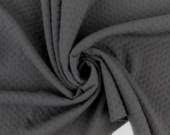 Black Poly Rayon Spandex Jacquard Fabric By the yard Style 468