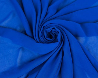 Royal Neon Wool Dobby Chiffon Fabric By the Yard Style 502