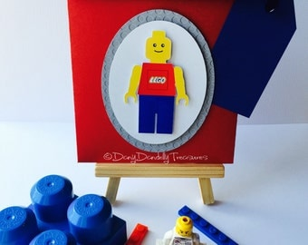 Lego Birthday Invitation Envelopes With Name Tags and Age+