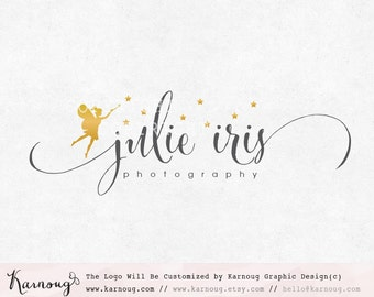 Gold Logo, Fairy Logo, Princess Logo, Star Logo, Photography Logo, Boutique Logo, Custom Logo, Premade Logo, Watermark Logo