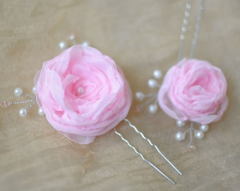 summer rose hair pins flower hair pins rose hair clips bridesmaid hair pins crystal pearl hair pins decorative hair pins flower hair pin