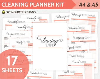 A5 Home Management Binder, Household Planner, A5 Inserts, Mom Planner, A5 Inserts, Printable Planner, Cleaning Schedule, Chores Chart