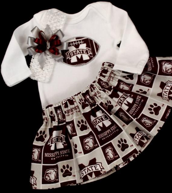 Mississippi State Girls 3 piece Bodysuit set