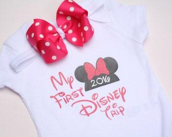 My First Disney Trip, Disney onesie, Disney bodysuit