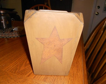 Crock for Utensils Primitive with Rustic Star 3 Colors available