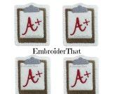 4 UNCUT  Back to School Clip board felt applique embellishments (4)