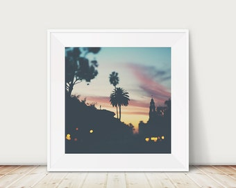 san diego photograph balboa park photograph california wall art sunset photograph palm tree photo travel photography  landscape photograph