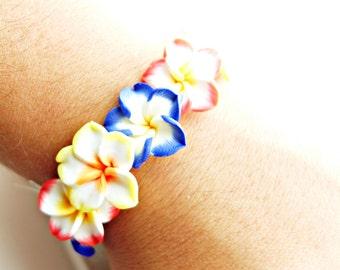 Hawaii flower bracelet