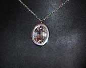 Swarovski Crystal Oval Pendant Necklace