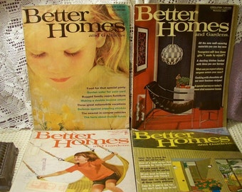 Vintage 1960's Better Homes And Gardens Magazines - Lot Of 4