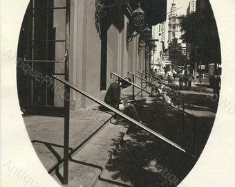 Philadelphia street vintage art photo by G. Eisenman
