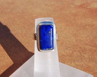 Lapis Lazuli Silver Ring size 4  PRICE REDUCED