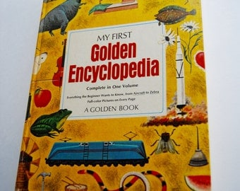 Vintage Children's Book, My First Golden Encyclopedia