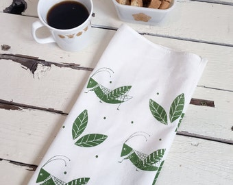 Grasshopper Tea Towel