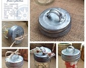 Galvanized Mason Jar Lid with Handle