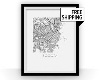 Bogota Map Print