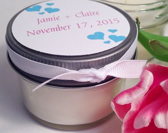 Candle favors. Soy Candles. Bridal Shower Favors. Baby Shower Favors. Wedding Party Gift. Wedding Favors.
