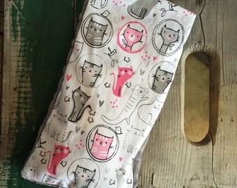 Bag Ziboomagik grey and pink cats
