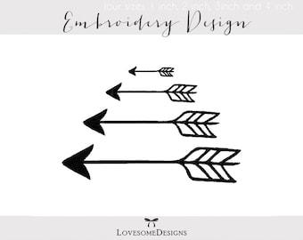 Arrows Four Sizes 1inch 2inch 3inch 4inch Embroidery Design, Tribal Arrows, Embroidery Arrows, Arrows Embroidery Design, Modern Embroidery