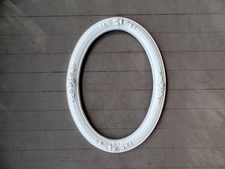 Large Picture Frame Ornate Vintage Oval Barbola Roses
